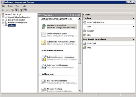 exchange management console manage exchange 2007 folders from exchange