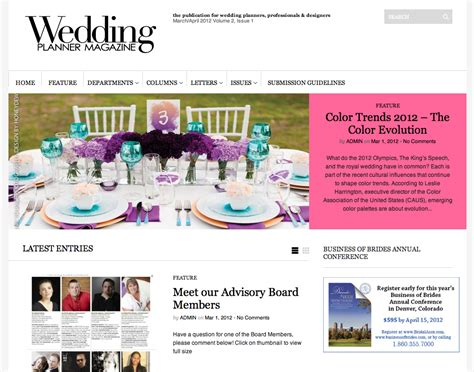 Wedding Planner Magazine by In Living Color Published In Wedding Planner Magazine