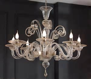 Gold Sconces Clear Glass Modern Murano Chandelier S1199l8 Murano Imports