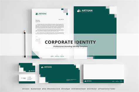 Corporate Identity Stationery Templates On Creative Market Branding Package Template
