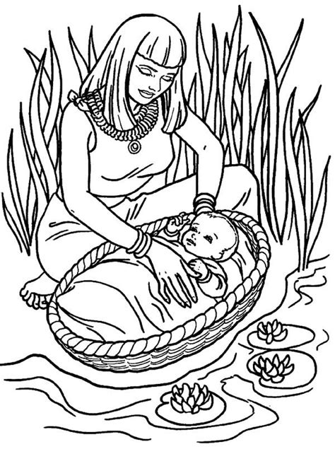 coloring pages for baby moses in the river baby moses coloring page coloring home
