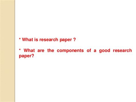how to write a proper research paper how to write a research paper