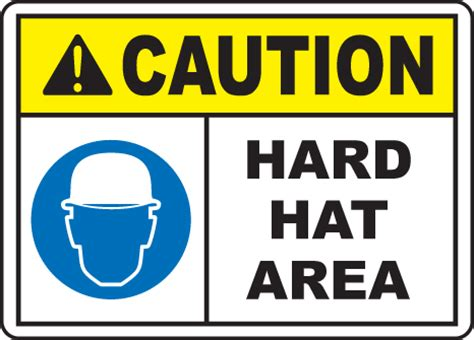 printable hard hat area sign caution hard hat area sign by safetysign com i4406