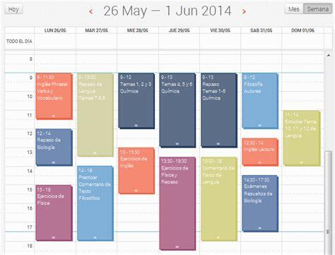 Calendario De Estudio Selectividad Horario De Estudio Para Selectividad