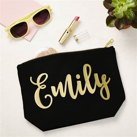 up name black make up with gold name by tillyanna notonthehighstreet