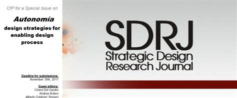 strategic design research journal unisinos desis network new call for papers of the strategic