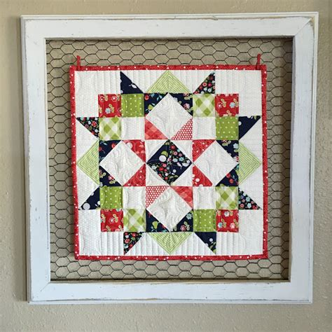 quilt pattern picture frame creative framing for a sweet little quilt quilting digest