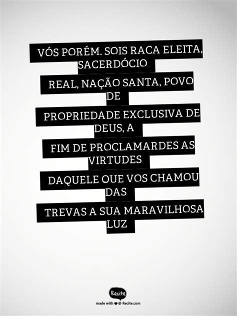 VÓS PORÉM, SOIS RAÇA ELEITA, SACERDÓCIO REAL, NAÇÃO SANTA