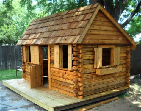 Outdoor Cabins Sheds by Log Cabin In A Backyard In Wichita Ks Made From Recycled