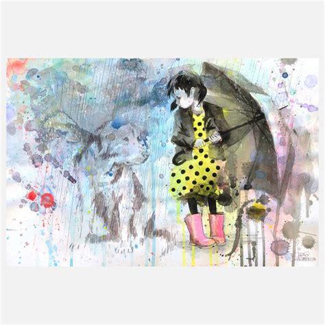 Dog Wall Murals rain dog wall mural