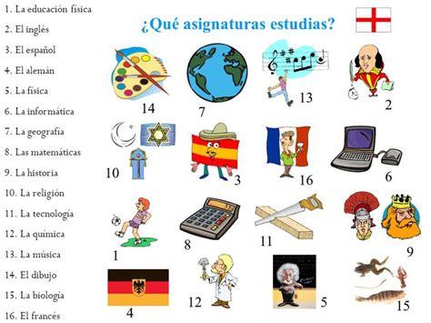 imagenes materias escolares 191 qu 233 asignaturas estudias las clase 218 tiles escolares