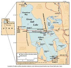 us map great salt lake usgs utah water science center great salt lake