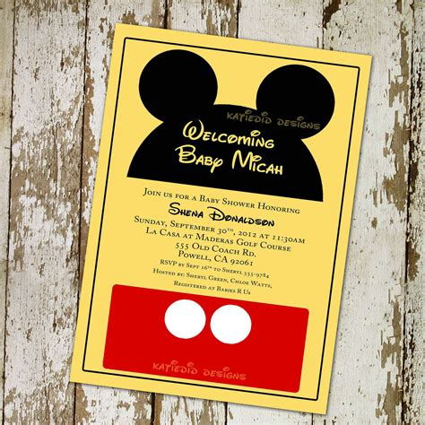 baby mickey mouse invitation template mickey mouse baby shower invitations template best