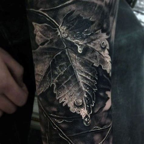 vine tattoos for men best 25 realism ideas on half sleeve