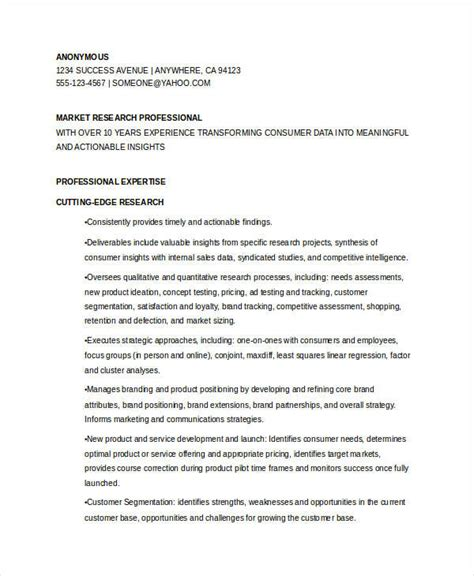 Marketing Resume Sle by Marketing Analysis Report Sle 28 Images Sales And