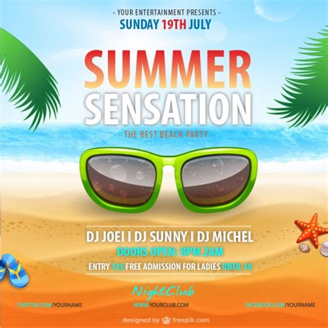 summer c poster template free summer vector poster template vector free