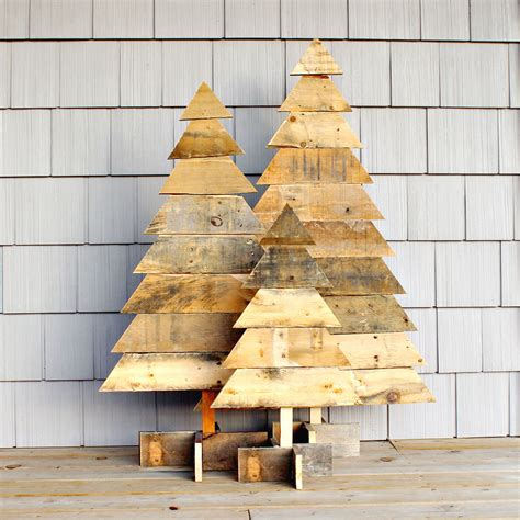 rustic wooden christmas trees christmas tree wooden