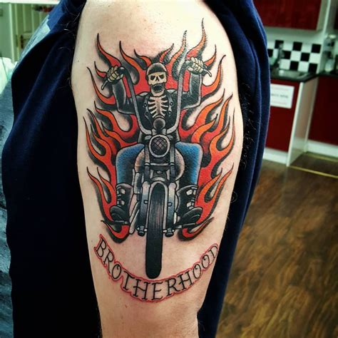 fearless tattoo designs 50 fearless outlaw biker designs for