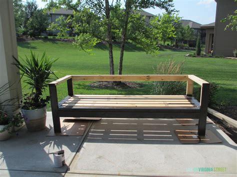 Diy Outdoor Couch Life On Virginia Street Outdoor Wood Furniture Stain