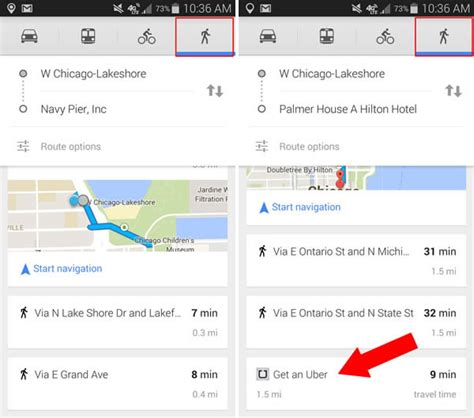 uber for walking do mobile maps app suggestions cross the line as ads