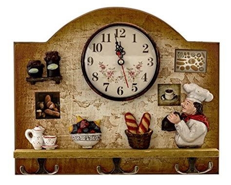 Chef Home Decor by Heartful Home Italian Chef Kitchen Decor Clock With