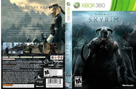 printable xbox 360 game covers the elder scrolls v skyrim xbox 360 box art cover by