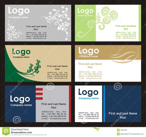 office 2000 business card template collection business cards templates stock photos image