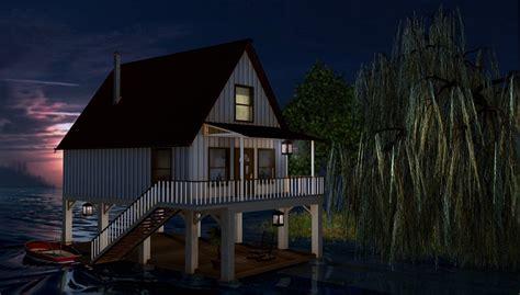 haus auf stelzen contest 3d contest 05 2012 quot modell nach blueprint