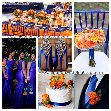 orange wedding colors blue wedding colors wedding royal blue