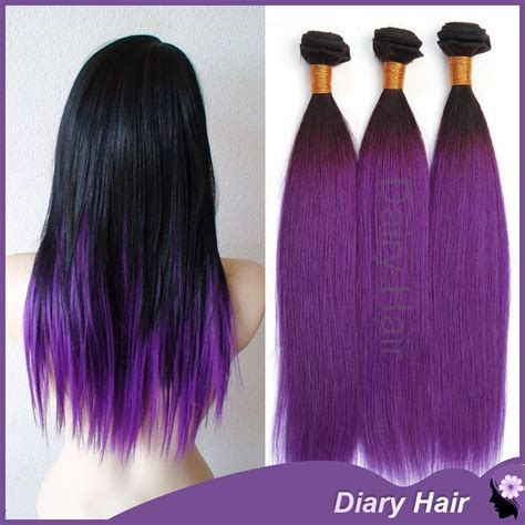 hair extensions purple 1b purple ombre remy hair extensions 7a