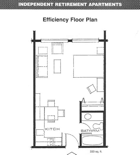 efficiency apartment layout decobizz com