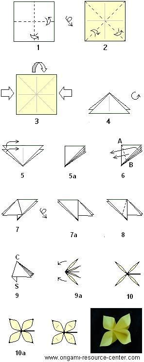 How To Make Easy Origami Flowers For - 25 best ideas about easy origami flower on