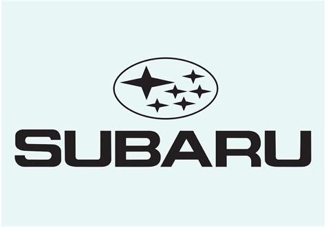 subaru logo vector subaru logo type download free vector art stock