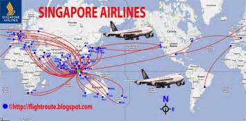 transportspot singapore airlines routes map