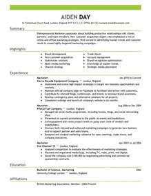 Best Resume Guidance by Marketing Resume Templates Learnhowtoloseweight Net