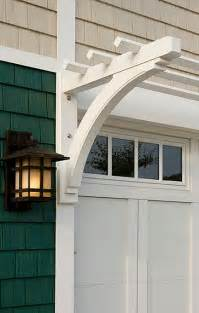 garage detail carriage house door arbor and light