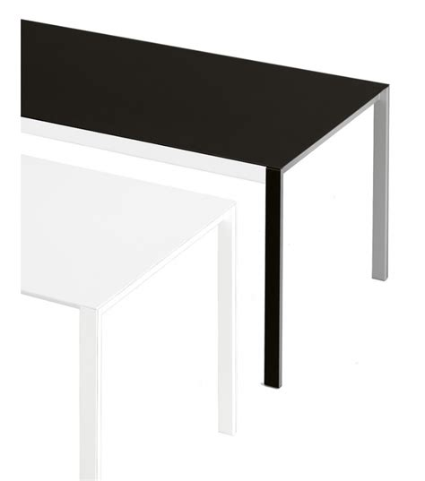 thin table thin k extendable table in aluminum kristalia milia shop