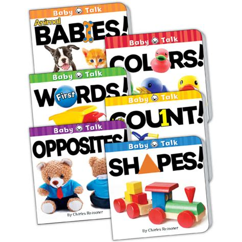 baby four book set books baby talk board book set set of 6 tcr418679