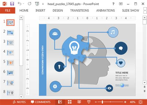 Animated Mind Map Powerpoint Template Powerpoint Map Templates