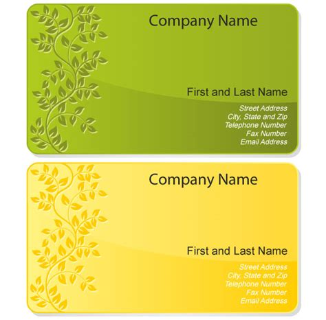 free card design templates free floral design business card template vector