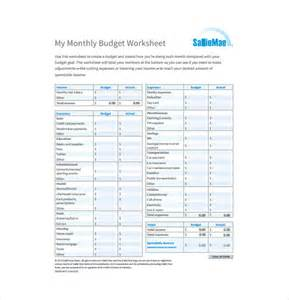 Budget Template Download 10 Monthly Budget Spreadsheet Templates Free Sample