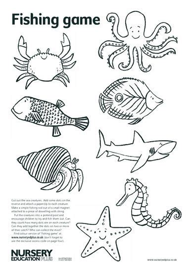 best photos of ocean animals worksheets cut out ocean 13 best creation diorama images on pinterest templates