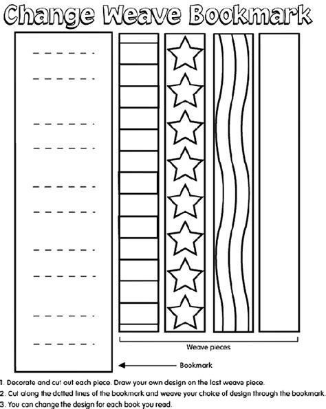 bookmarks templates for pages weave bookmark crayola com au