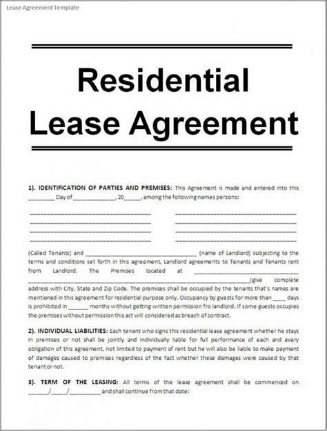 free printable lease agreement ms free printable rental agreements template business