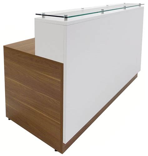 Counter Reception Desk Contrasts Custom Reception Desks W Glass Counter 5 W Desk