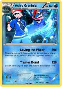 pok 233 mon ash greninja 1 1 loving water pokemon card