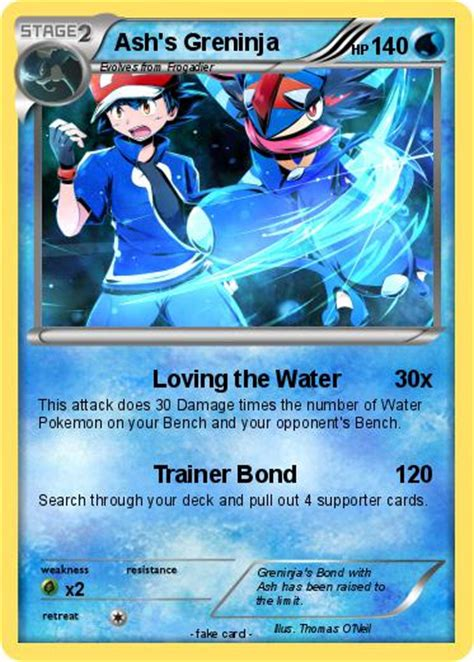 Kartu Trading Card Water X And Y Froakie Dkk pok 233 mon ash s greninja 1 1 loving the water my card