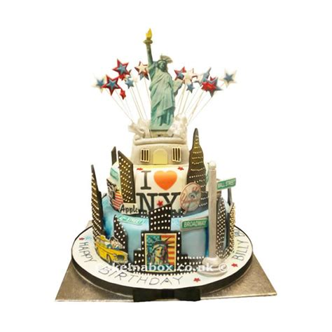 1 Year Birthday Ny - new york birthday cake