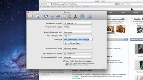 Change Home Page In Safari mac tutorial how to change safari home page