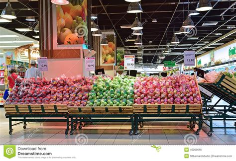 fruit section fruit section in supermarket in asia editorial photo